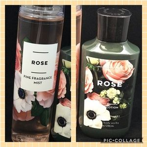 ROSE bath & body works mist and body lotion